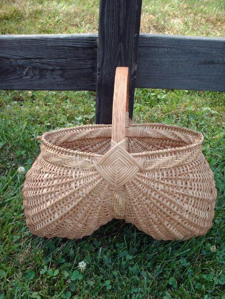 """12"""" Egg Basket w/Cane Twill Work"""